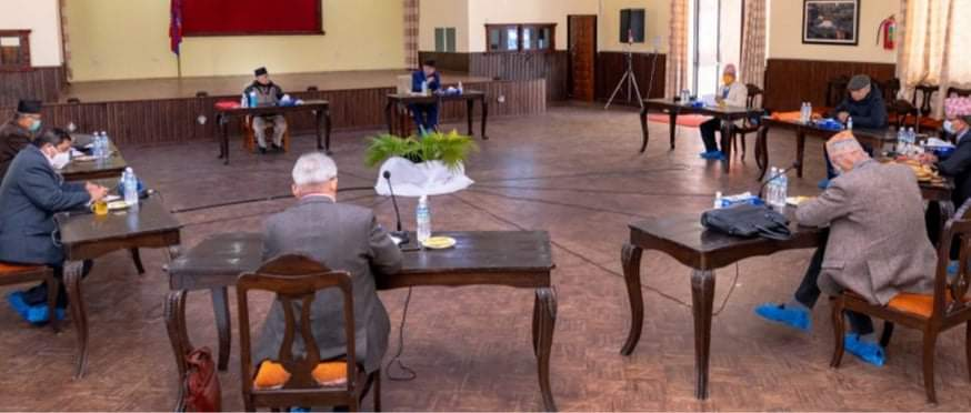 प्रधानमन्त्री निवास बालुवाटारमा नेकपा सचिवालय बैठक जारी