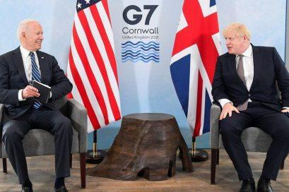 अमेरिकी राष्ट्रपति बाइडेन र बेलायती प्रधानमन्त्री  जोन्सनबीच भेटवार्ता