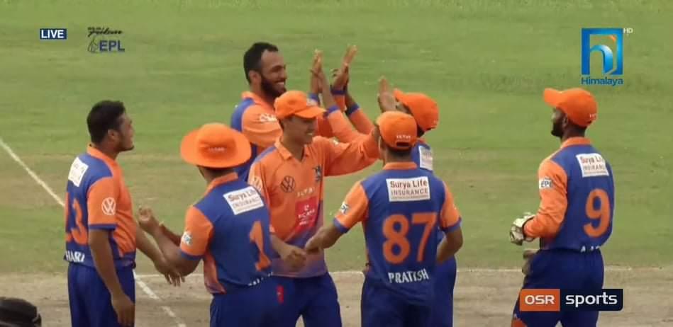 इपीएल: काठमाडौं किङ्सलाई ७ रनले हराउँदै विराटनगर विजयी